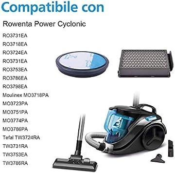 Filtros HEPA para serie Cyclonic Power Rowenta RO3753EA, RO3731EA ...