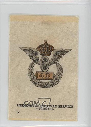 Railway Company Series - Insignia of Railway Service - Prussia COMC REVIEWED Good to VG-EX (Trading Card) 1912 S16 Emblem Series Silks - Tobacco [Base] - Old Mill #IRS