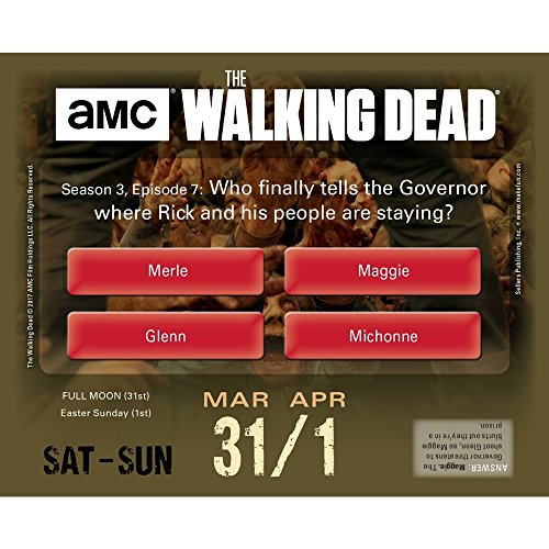 The Walking Dead Trivia Challenge 2018 Daily Desk Boxed