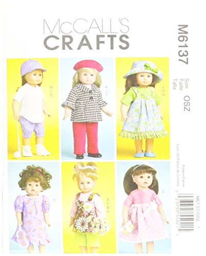 Mccall Pattern McCall's Patterns M6137 Doll Clothes For 1...