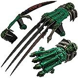 Skull & Bones Gauntlet Style Hand Claws fix knife steel sharp edge blade pocket