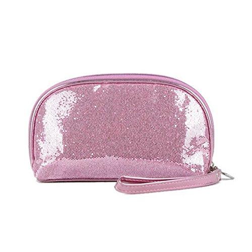 Garrelett Shimmery Sequined Top Zipper Evening Handbag Wallet Cosmetic Case Clutch Coins Purse Card Holder Cellphone Bag Organizer for Women Girls Ladies (Evening Bag Purse Makeup)