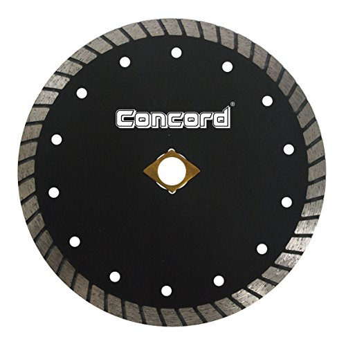 Concord Blades CTW100D10CP 10 Inch Continuous Wide Turbo Teeth Diamond Blade with Cooling Holes (Masonry Wet Saw)