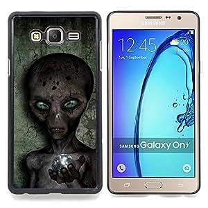 Sci-Fi Ufo Conspiracy Grey Caja protectora de pl??stico duro Dise?¡Àado King Case For Samsung Galaxy On7 G6000