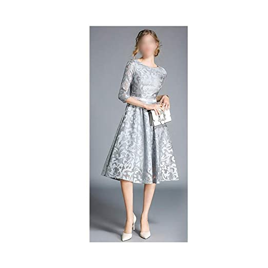 Vestido de Mujer Falda de Encaje con Vuelo Vestido Corto de Encaje ...