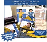 Inkjet Print On This Satiny Cotton Fabric For Amazingly Beautiful Results (5 sheets)