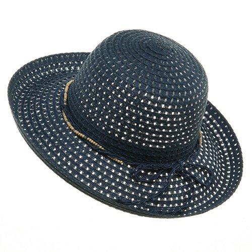 Sewn Braid Toyo Hats-Navy - Braid Hat Toyo Wide