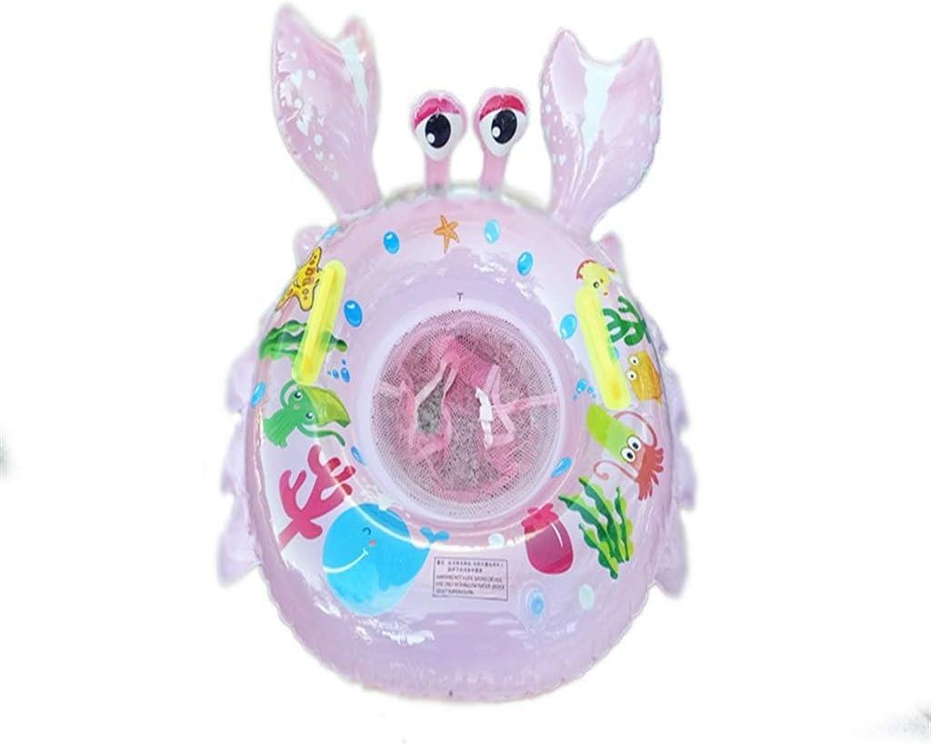カニスイミングシート1-3歳の赤ちゃんの水泳リング環境保護肥厚pvc動物シートカラーボックス水泳リング -可愛いデザイン (Color : Pink, Size : 22.5×20×5cm)