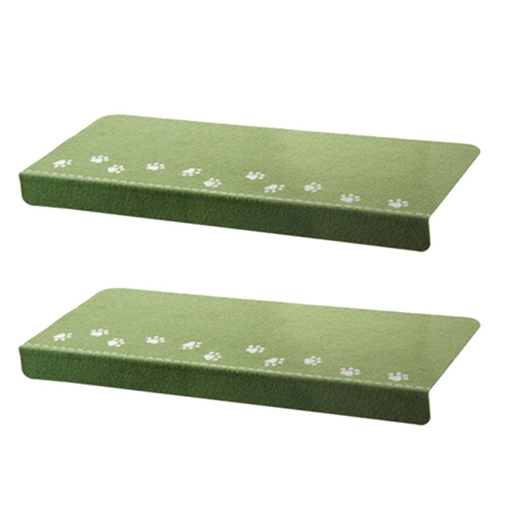 Baoblaze 2 Pz Tappeti per Scalini, Notte Luminosa Scale Tappetini Antiscivolo Accessori - Verde