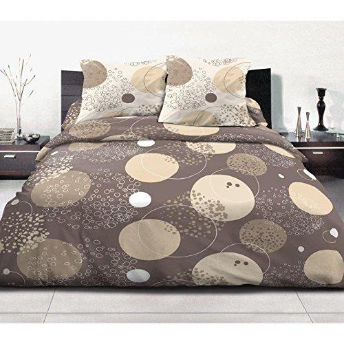 Home Inspiration ASTRE Parure de couette Coton Beige 3 pieces 200x240 cm