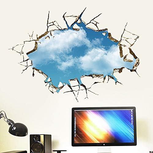 Pegatinas De Pared De PVC 3D Creativo Moderno Muro Roto Blue Sky ...