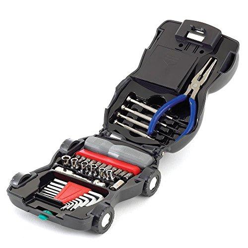 34 Piece Car Tool Kit (34-Piece Car Tool Kit With Light, Hand Tools)