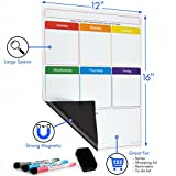 Magnetic Dry Erase Weekly Calendar for Fridge