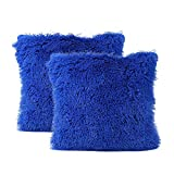Hellosay 2Pack Plush Square Throw Pillow