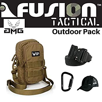 Image of AMG & Fusion Outdoor Pack CYB, Great Carry-On Flight Approved Travel Bag, Outdoors, and on The Go, with Belt, Carabiner and Black Cap Included Game Belts & Bags