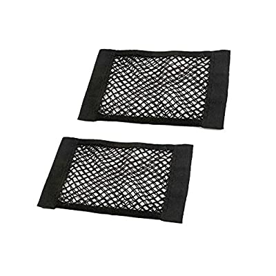 JAVOedge (2 Pack - Medium NETS Hook and Loop Adhesive Tape Storage Net Car Accessories Interior Organizer, Car/Truck/RV: Automotive