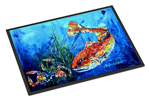 - Caroline's Treasures Scattered Red Fish Indoor or Outdoor Mat 24x36 MW1214JMAT 24