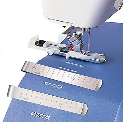 HONEYSEW Sliding Buttonhole Foot for Janome Multifunction Sewing Machine Presser Feet 753801004 with Free 3PCS Stainless Steel Fabric Hemming Clips
