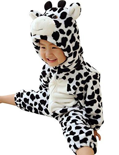 [DD-CM Baby Boys Girls Halloween Milk Cow Romper Costume] (Baby Cow Halloween Costumes)