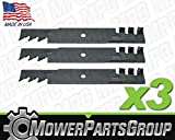 "(3) Mulching Blades Fits Bad Boy 48"" MZ, MZ Magnum Replaces 038-4825-00"