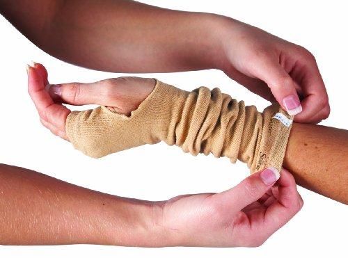 SecureSleeves® Geri кожи рукава для рук - Защищает Чувствительная кожа - одна пара - Большой - коричневый - 16,5
