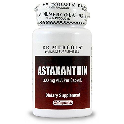 Dr Mercola Astaxanthin - 30 Capsules - 300 mg ALA Per Capsule - Antioxidant - Premium Dietary Supplement Discount