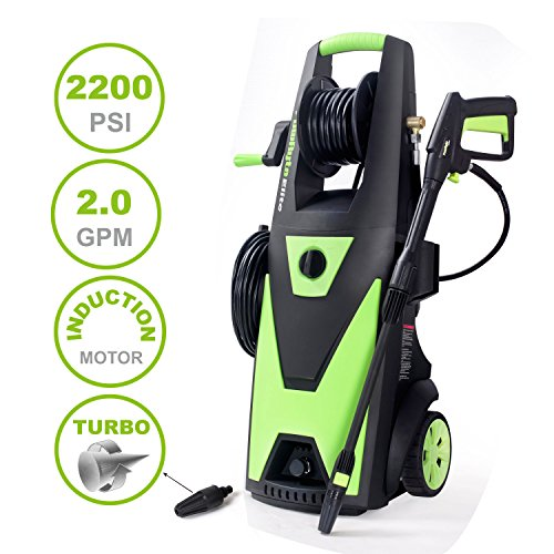 PowRyte Elite Electric Pressure Washer, 2200PSI 2.0GPM Power Washer with Hose Reel, Extra Turbo Nozzle, Induction Motor by PowRyte (Image #8)