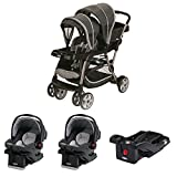 Graco Ready2Grow Dual Stroller with 2 Car Seats and a Base Travel System