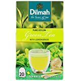Dilmah, Ceylon Pure Green Tea with Lemongrass, 20-Count Foil Wrapped Tea Bags ((Pack of 6)) For Sale