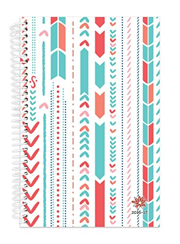 "Bloom Daily Planners 2016-17 Academic Year Daily Planner - Passion/Goal Organizer - Fashion Agenda - Weekly Diary - Monthly Datebook Calendar - August 2016 - July 2017 - 6"" x 8.25"" - Arrows"