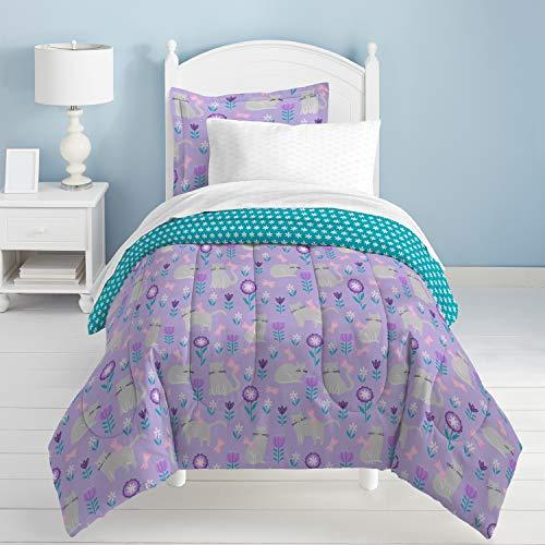 - dream FACTORY Cat Garden Comforter Set, Twin, Gray