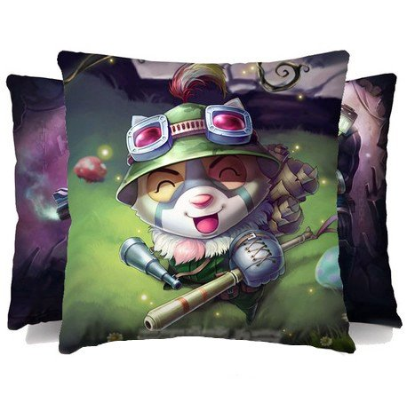 7 Weapons LOL - League of Legends the Swift Scout Teemo 16 * 16 Inches Micro Fiber Peach Pillow for LOL Enthusiasts, for Home / Car Decor, Perfect Present for Friends and Sweetheart