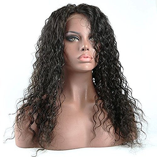 Formal Hair Curly Human Hair Lace Front Wigs 150% Density Brazilian Deep Curly Wig with Baby Hair for Black Women Natural Color 14 inch by Formal Hair (Image #1)