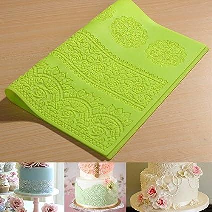 bluel over grandes silicona Lace Flower braille Mat Impresora ...