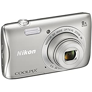 Nikon COOLPIX S3700 20.1 MP WiFi Digital Camera (8X Optical Zoom, Silver) (Certified Refurbished) from Nikon
