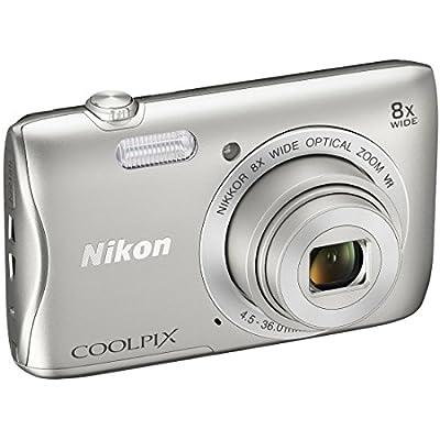 Nikon COOLPIX S3700 20.1 MP WiFi Digital Camera (8X Optical Zoom, Silver) (Certified Refurbished) from Nikon