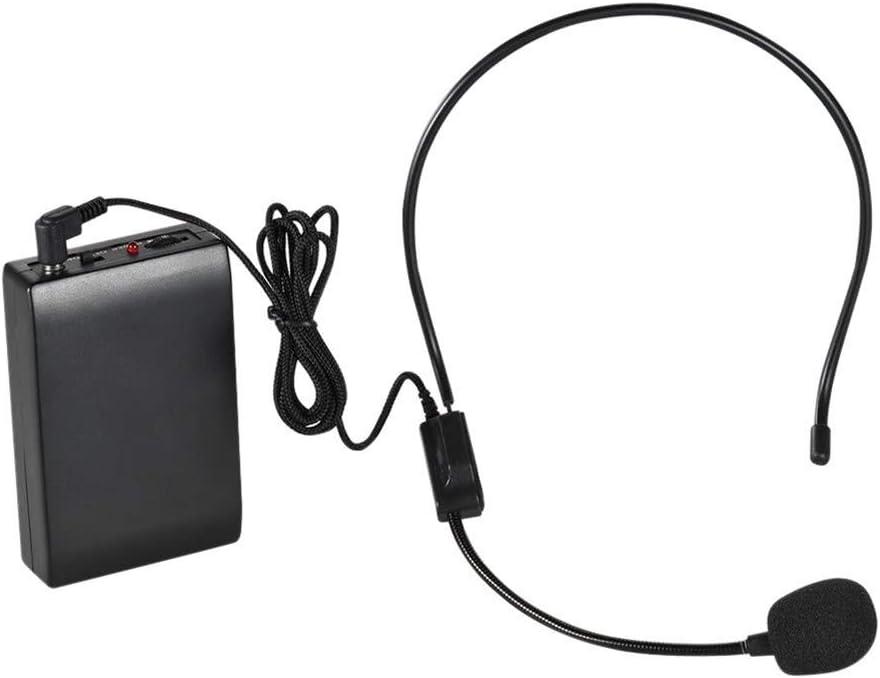 FM inalámbrico portátil con micrófono de un sistema amplificador de voz 1/4 pulgadas de salida con el receptor transmisor portátil for el maestro de Yoga Teacher Presentador Profesor Conferencia Promo