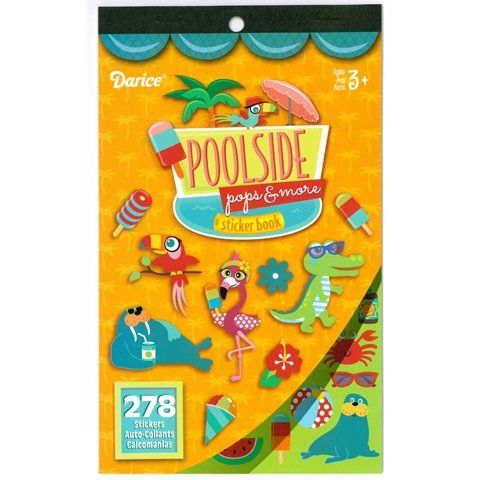 (2 BOOKS of - POOLSIDE Pops & More - Mini STICKERS (556 total stickers) POOL Fun SUMMER Treats ICE Cream Kid's ACTIVITY Craft Party FAVORS -Scrapbooking PARTY PROJECT)