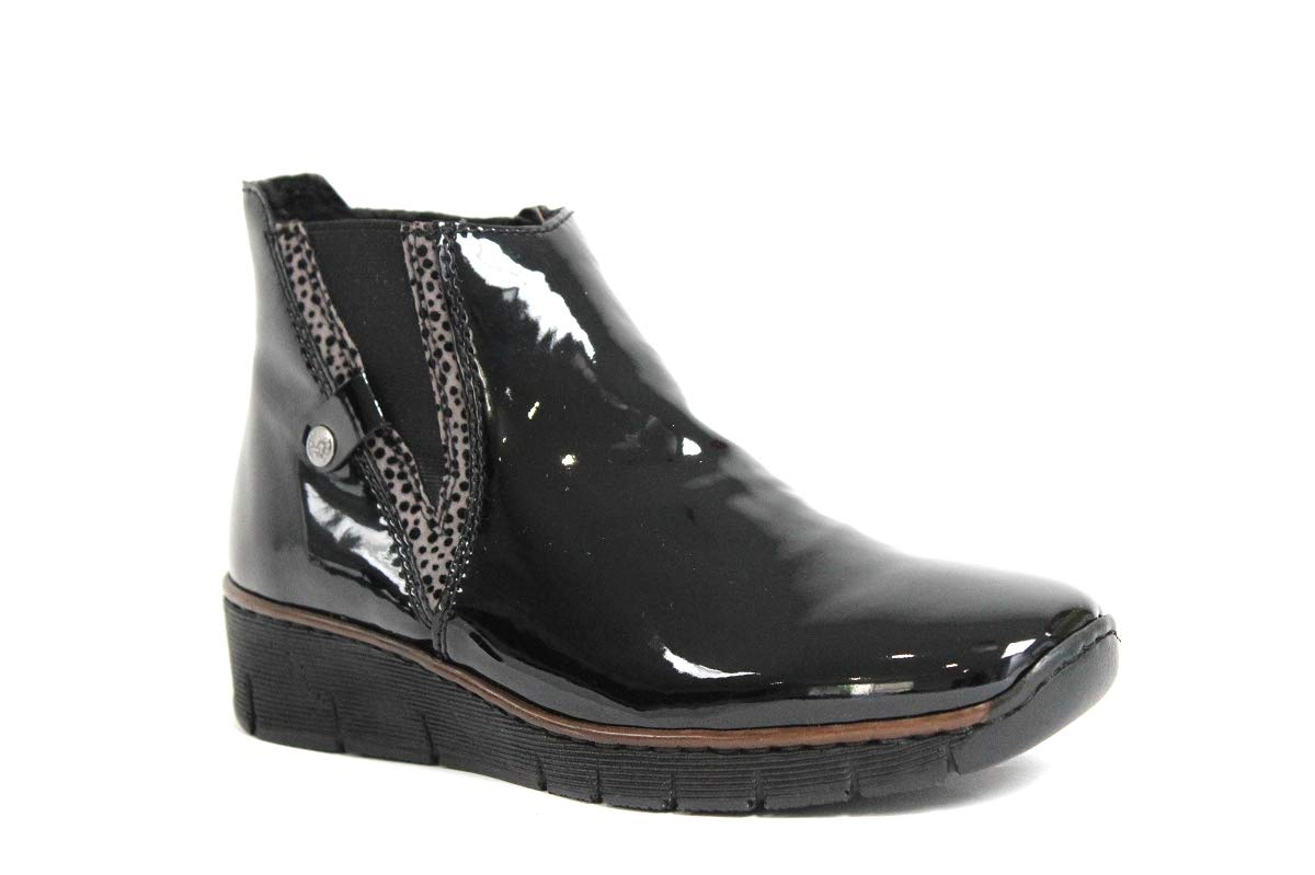 RIEKER Noir - 41 Chaussures montantes 9986 femme RIEKER - 73771-00 - Bottes/ Bottines - 36 au 41 Noir 1e19553 - fast-weightloss-diet.space