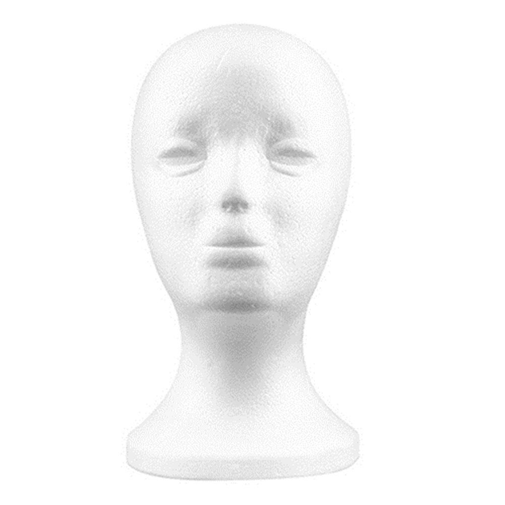 Práctico de espuma hembra maniquí de cabeza tienda sombrero, peluca, pelo joyería gafas expositor Brussels08