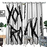 inspiring modern closet design homehot Quote Patterned Drape for Glass Door Motivational Phrase Positive Life Day Inspiring You Rock Slogan Teen Print Waterproof Window Curtain Black and White