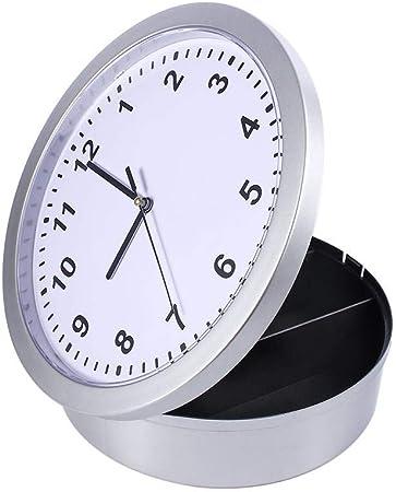 Zoternen Reloj de Pared con Caja Fuerte 25 x 7cm Caja Fuerte ...