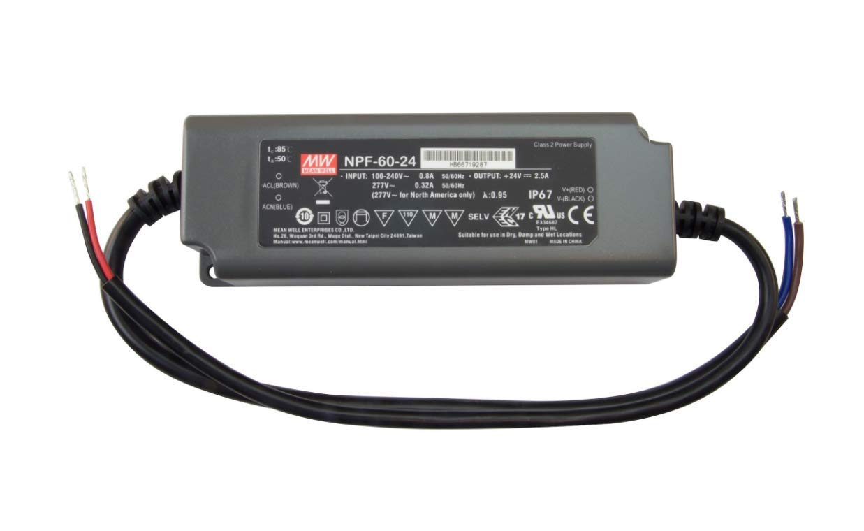 LO-PRO Junction Box and Driver Combo Commercial Grade 24V DC Constant Voltage Driver 90W 120-277V AC