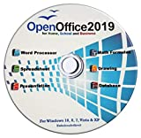 Open Office 2019 Software Suite for Home Student and Business, Compatible with Microsoft Office Word Excel PowerPoint for Windows 10 8 7 powered by Apache