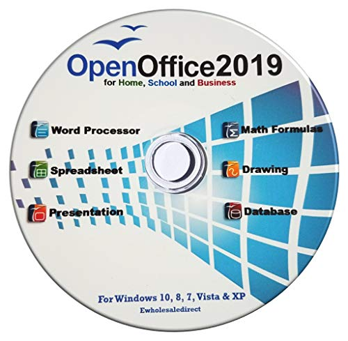(Open Office 2019 Software Suite for Home Student and Business, Compatible with Microsoft Office Word Excel PowerPoint for Windows 10 8 7 powered by Apache)