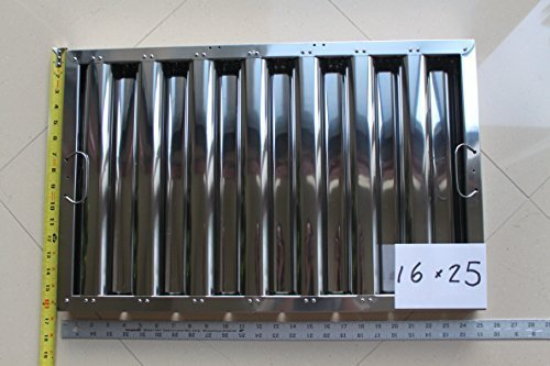 Baffle Grease (Defense Stainless Steel Commercial Hood Baffle Grease Filter 16
