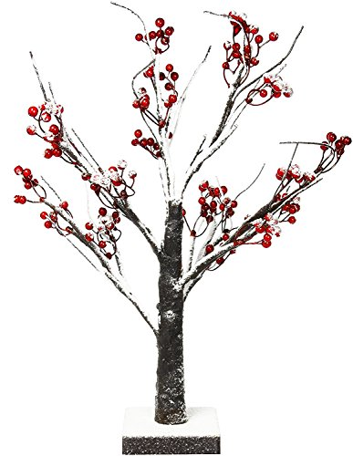 - Lightshare Snow Tree Bonsai with Red Berry Lighted