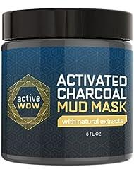 Active Wow Charcoal Mud Mask - Deep Pore Facial Cleanser & Healing Formula