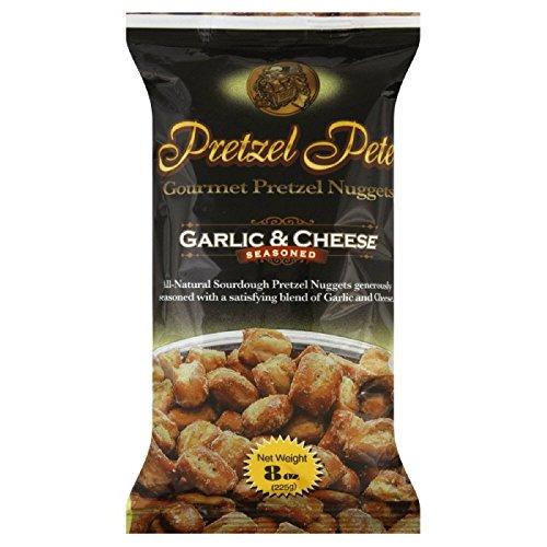 Pretzel Pete Pretzel Nuggets, Garlic & Cheese, 8 oz Bag