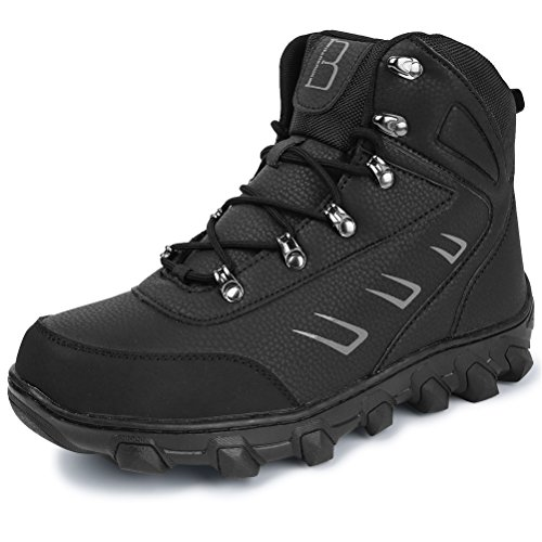 Barerun Men's Shelter Waterproof Hiking Sport Winter Performance Snow Boot Black 8 D(M) US (Toe Warmers Shelter)